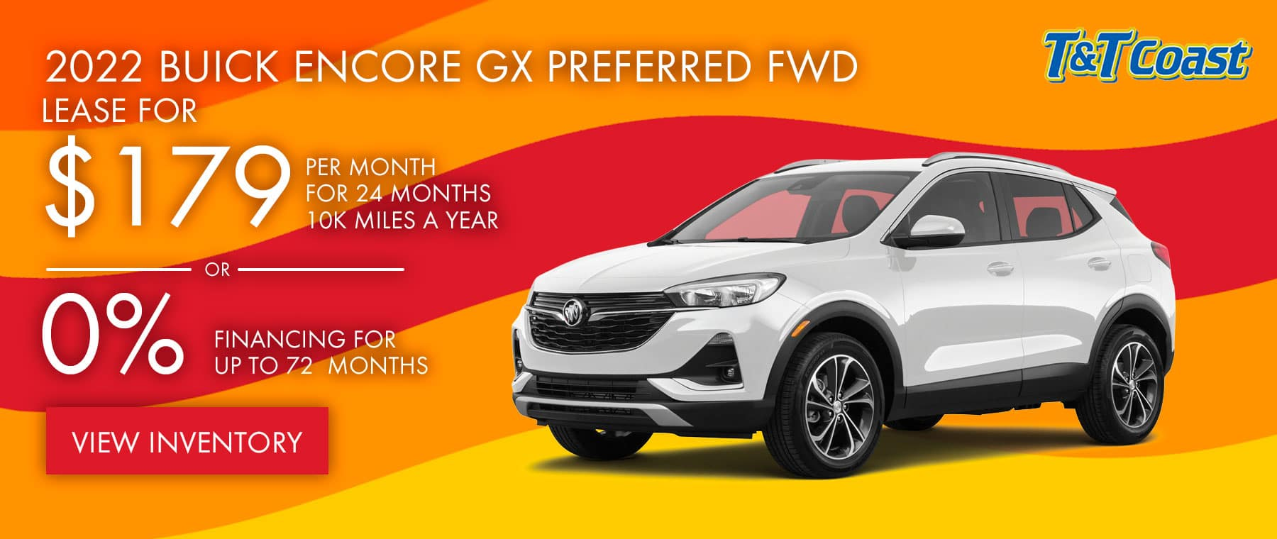 2022 BUICK ENCORE GX PREFERRED FWD $179 a month for 24 months OR 0% financing for up to 72 months