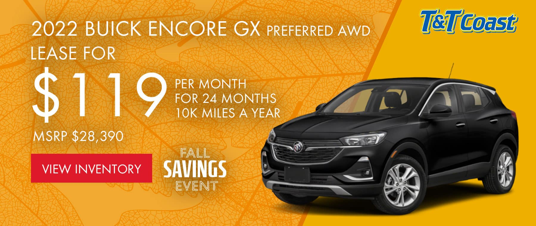 2022 BUICK ENCORE GX PREFERRED AWD MSRP $28,390 $119/MONTH LEASE! For 24 Months /10K Miles/Year