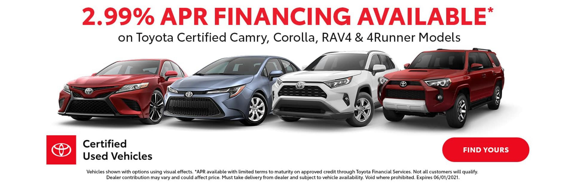 2.99% APR Financing on select Certified Used Vehicles