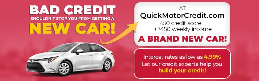 QuickMotorCredit.com - Bad credit shouldn't stop you from getting a new car