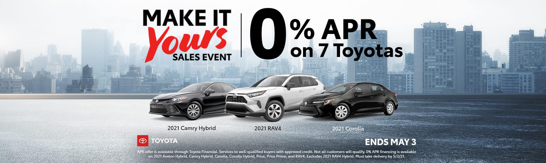 Toyota Make It Yours Sales Event