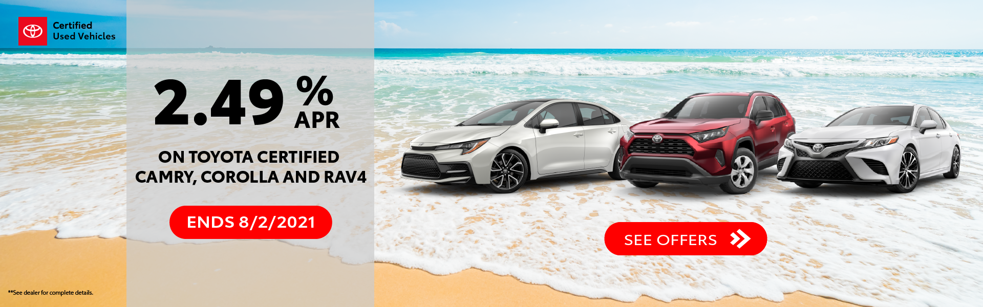 Toyota Certified, TCUV, Summer