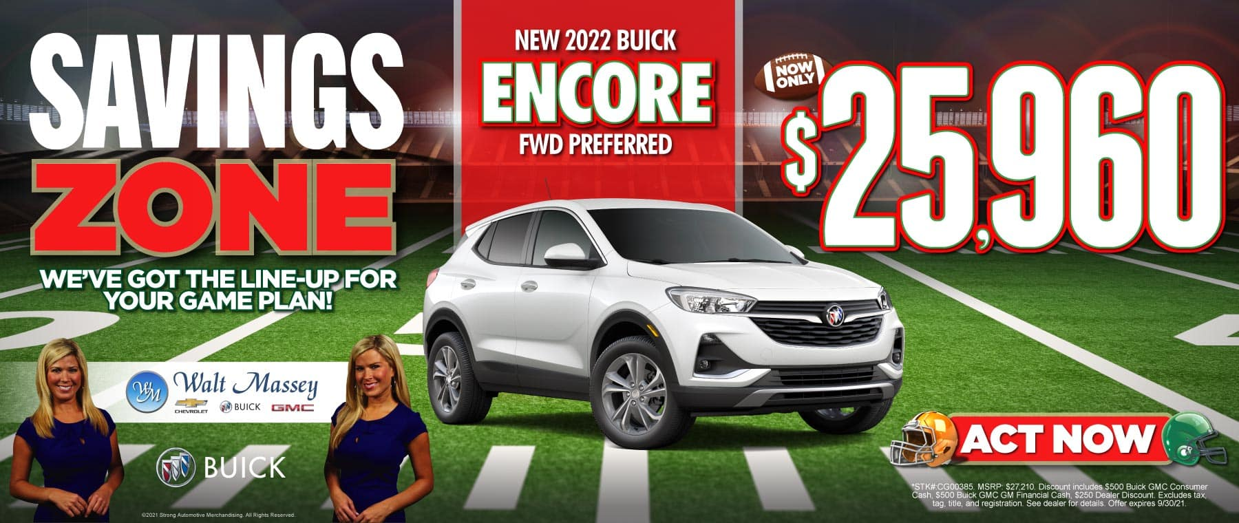 New 2022 Buick Encore FWD Preferred   Now Only $25,960   ACT NOW